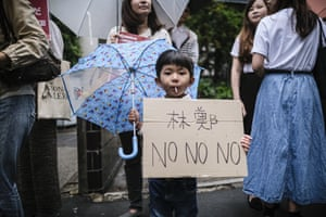 About 300 protesters marched in Tokyo on Sunday against the controversial extradition bill that would allow suspected criminals to be sent to mainland China for trial from Hong Kong