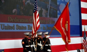 US marines take part in the dedication ceremony.