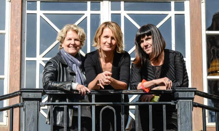 Sandi Toksvig, Sophie Walker and Catherine Mayer (from left) at the Women's Equality party policy launch in London, England.
