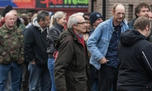 Ken Loach on the set of his new film I, Daniel Blake.
