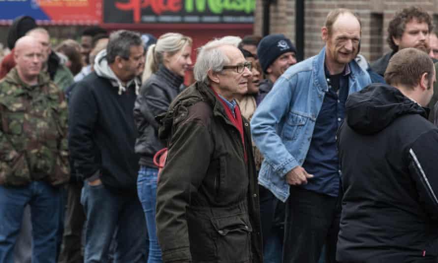 Ken Loach on the set of his new film I, Daniel Blake.