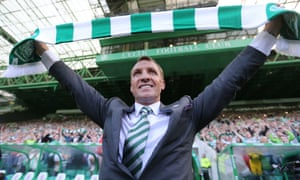 Celtic - Brendan Rodgers Press ConferenceBritain Football Soccer - Celtic - Brendan Rodgers Press Conference - Celtic Park - 23/5/16 New Celtic manager Brendan Rodgers is presented to the fans after the press conference Reuters / Russell Cheyne Livepic EDITORIAL USE ONLY.