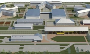 An artist's impression of the new prison in Wrexham