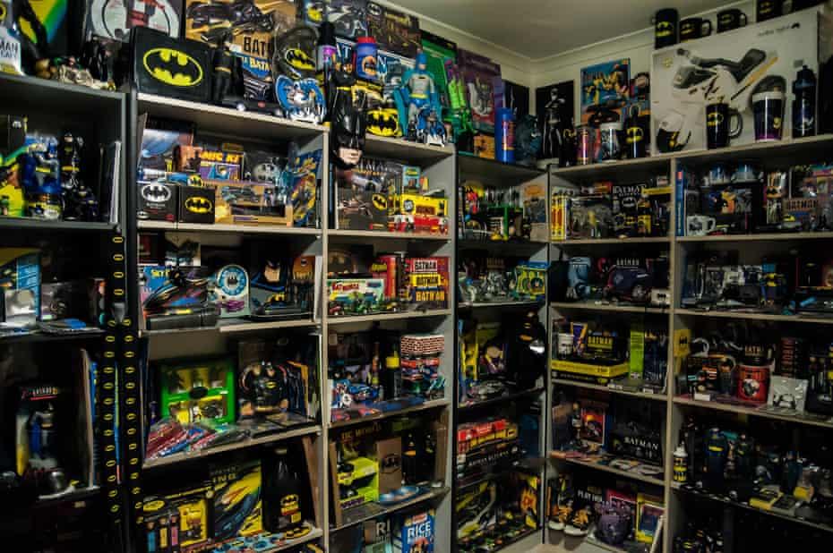 "Melbourne sci-fi and pop culture enthusiast Darren ""Dags"" Maxwell's collection of Batman memorabilia"