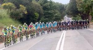 The Giro d'Italia passing through Tuscany in 2015