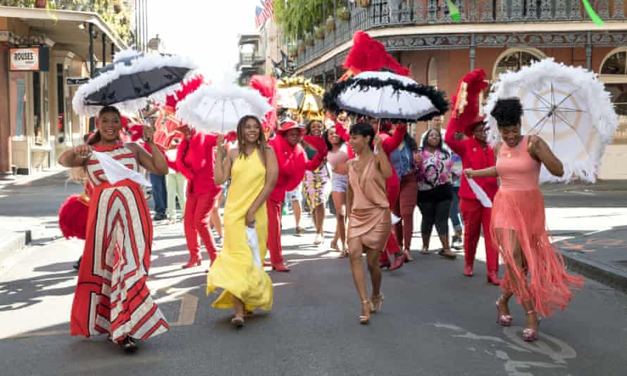 Queen Latifah, Regina Hall, Jada Pinkett Smith and Tiffany Haddish in Girls Trip.