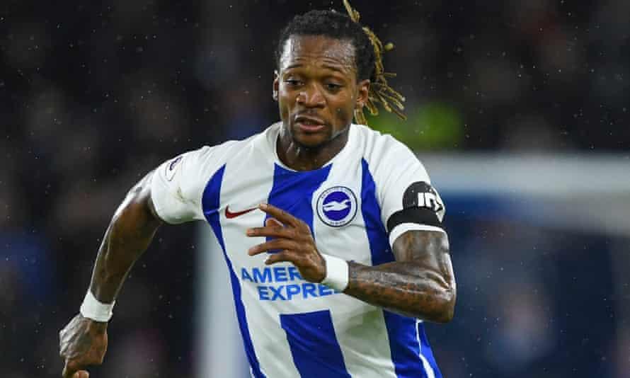Gaëtan Bong in action for Brighton against Burnley.