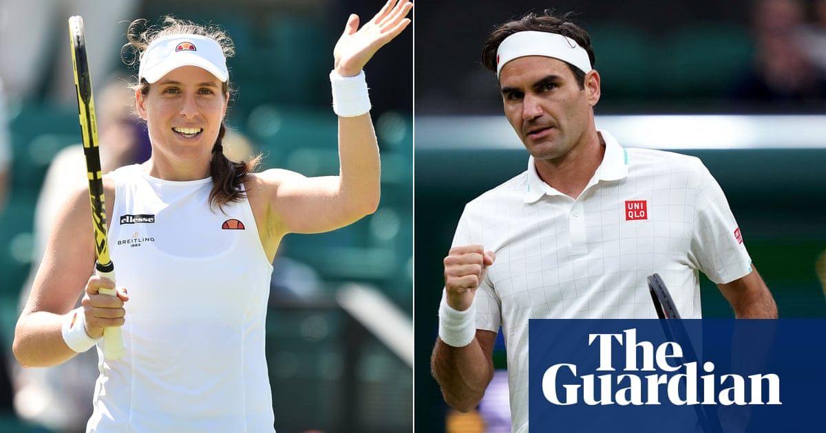 Konta and Federer become latest tennis players to pull out of Tokyo Olympics