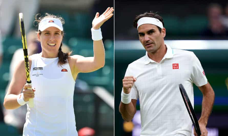 Johanna Konta said she was heartbroken to miss the Tokyo Olympics but she is suffering with the after-effects of Covid-19 while Roger Federer's knee injury has forced his withdrawal.