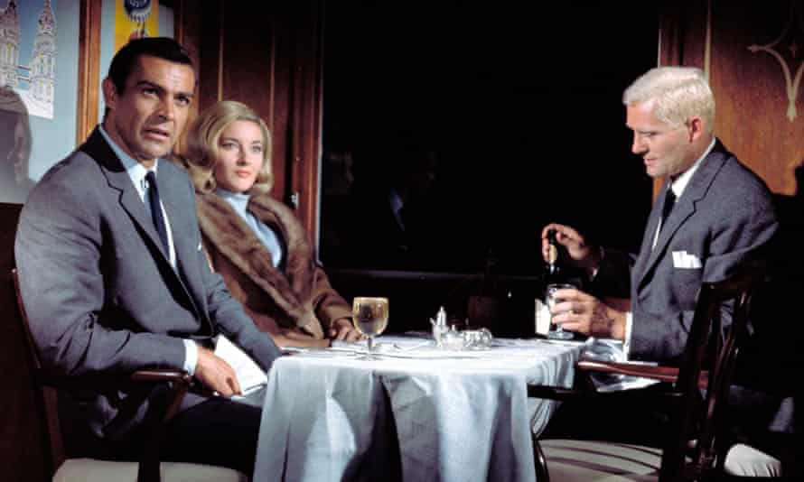 Thrilling … Sean Connery, Daniela Bianchi and Robert Shaw in 1963's film adaptation of From Russia With Love.