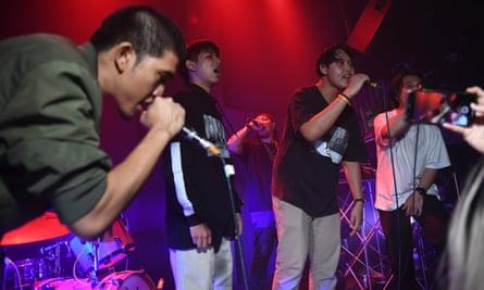 Rap Against Dictatorship perform
