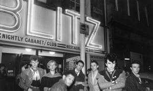 Visage outside the Blitz club, 1978.