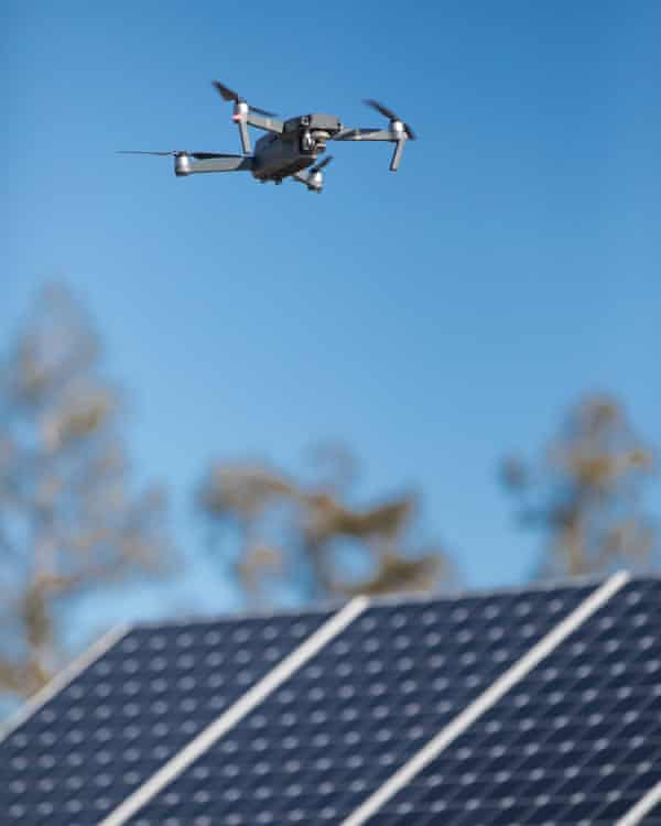 A solar power plant owner would dispatch this type of drone to take infrared images of solar panels to ensure they are working properly.