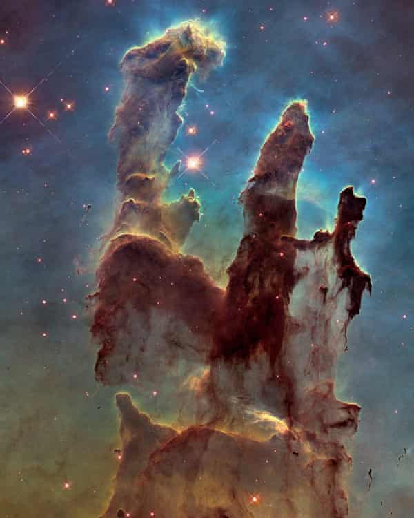 Sublime … the Hubble telescope has revealed light-filled dust clouds that are light years across.