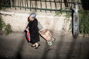 A Haredi woman in West Jerusalem