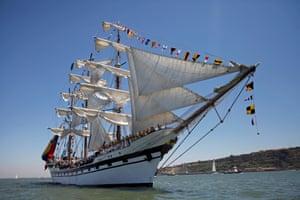 Venezuela's ship Simon Bolivar