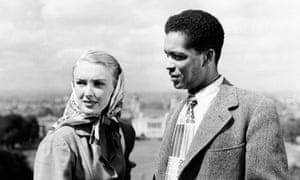 Earl Cameron and Susan Shaw in Pool of London, 1951. The film can be seen as a milestone in its depiction of a relationship between a black worker and a young white woman – the first time the subject had been sensitively handled in British cinema.
