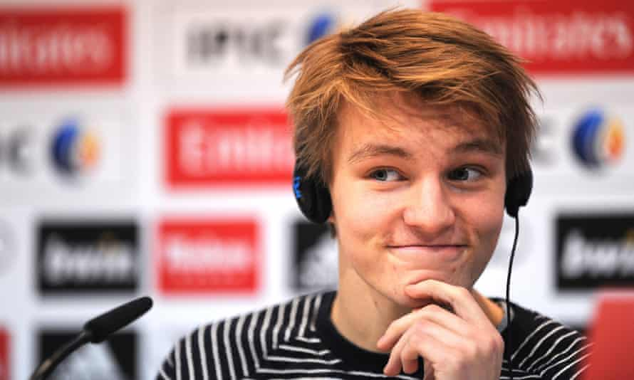 Martin Ødegaard after signing for Real Madrid aged 16 in January 2015.