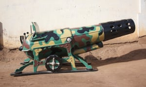 Camouflage-print cannon