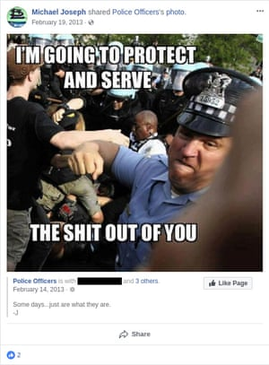 A post from a St Louis police officer.