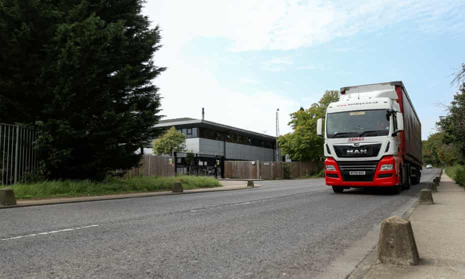 Heavy trucks thunder past Templefield House at all hours.