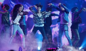 BTS perform Fake Love at the 2018 Billboard Music Awards in Las Vegas.