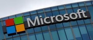 A Microsoft logo