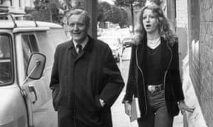 Tony Benn arrives at a polling station to cast his vote in the 1975 referendum on the European Community, with his daughter Melissa