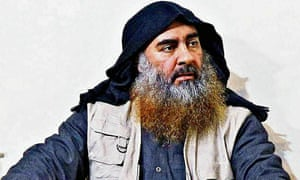 Abu Bakr al-Baghdadi is seen in an undated picture released by the US Department of Defence on 30 October.