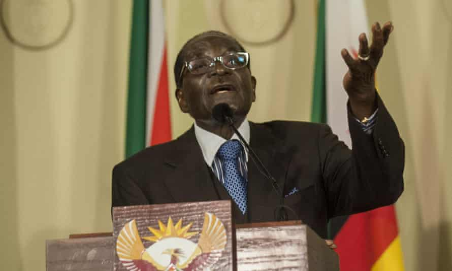 Robert Mugabe made his comments during at 35-minute monologue in Pretoria that varied from pointed to rambling and witty