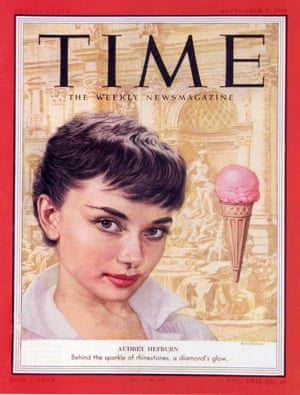 AUDREY HEPBURN on the cover of Time magazine 7 September 1953