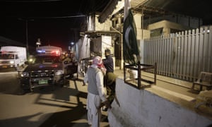 Pakistani police take control of the headquarters in Lahore of the banned Jamaat-ud-Dawa group.
