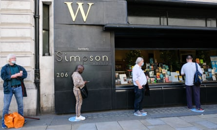 Waterstones bookshop on London's Piccadilly, on the day non-essential shops reopened, 15 June 2020.