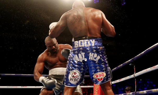 Dillian Whyte knocks out Derek Chisora in 11th round – as it