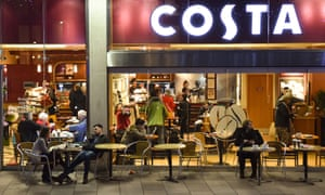 A Costa Coffee store in Cardiff.
