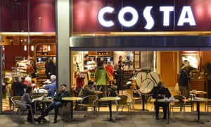 A Costa Coffee store in Cardiff