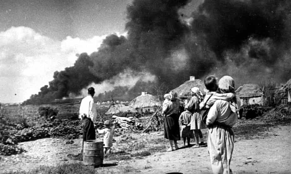 The German invasion of Ukraine, 1941.