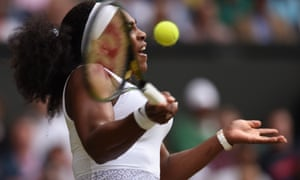 Williams showing the power that was too much for Muguruza.