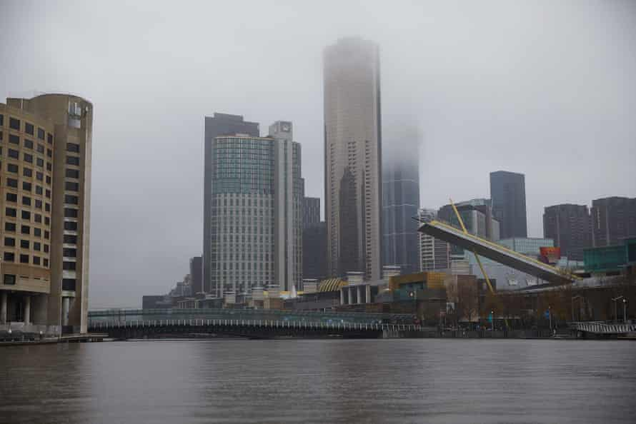 Part of the city of Melbourne from the Yarra River
