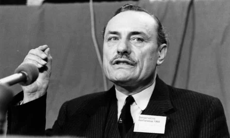 Enoch Powel makes a controversial speech against immigration at the Conservative party conference in 1968.