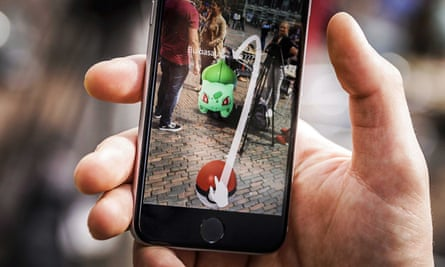 A Pokémon Go gamer playing the app in Haarlem, the Netherlands.