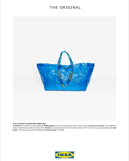 Ikea's response to the Balenciaga bag