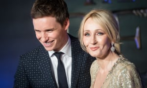 Eddie Redmayne and JK Rowling attend the European premiere of Fantastic Beasts and Where to Find Them at Odeon Leicester Square