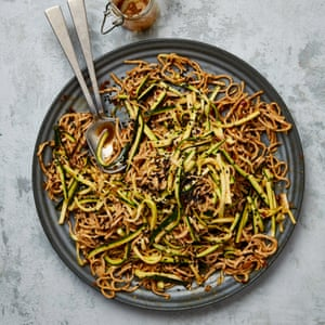 Meera Sodha's cold sesame noodles with smacked courgette.