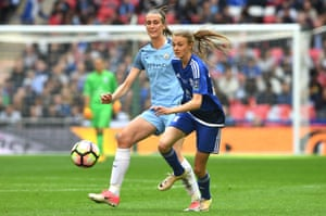 Ellie Brazil in action for Birmingham City against Manchester City during the Women's FA Cup final earlier this year.