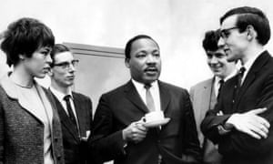Nick Nicholson, far right, with Martin Luther King.