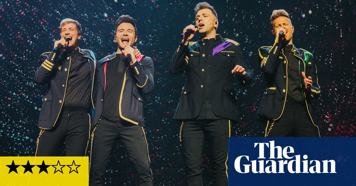 Westlife review – confident crooning from stool-powered man