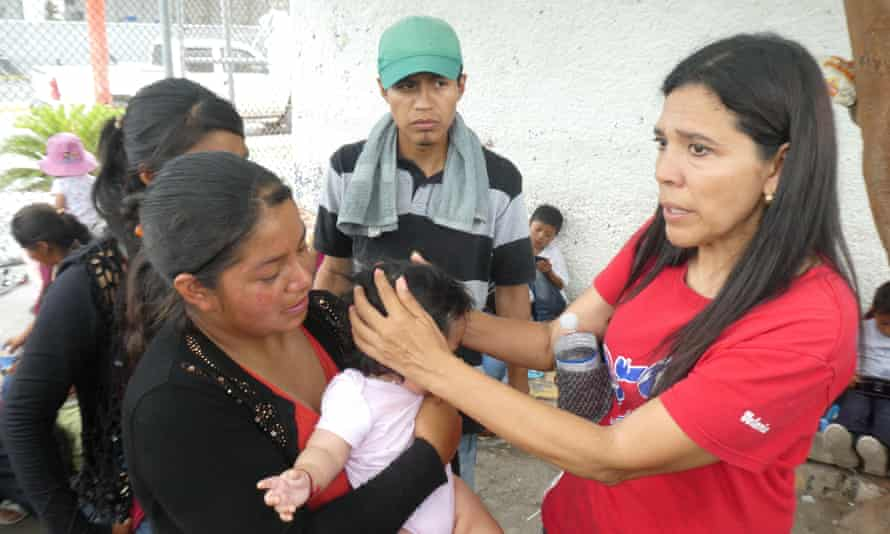 Glady Cañas Aguilar, advocate for refugees, waiting in Matamoros to cross to the US.