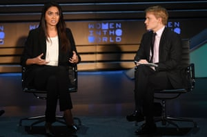 Ronan Farrow interviewing Ambra Battilana Gutierrez, who helped expose the Weinstein allegations