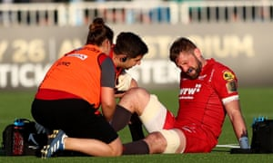 The Scarlets will miss John Barclay who ruptured his achilles tendon during the Pro14 semi-final defeat of Glasgow Warriors.